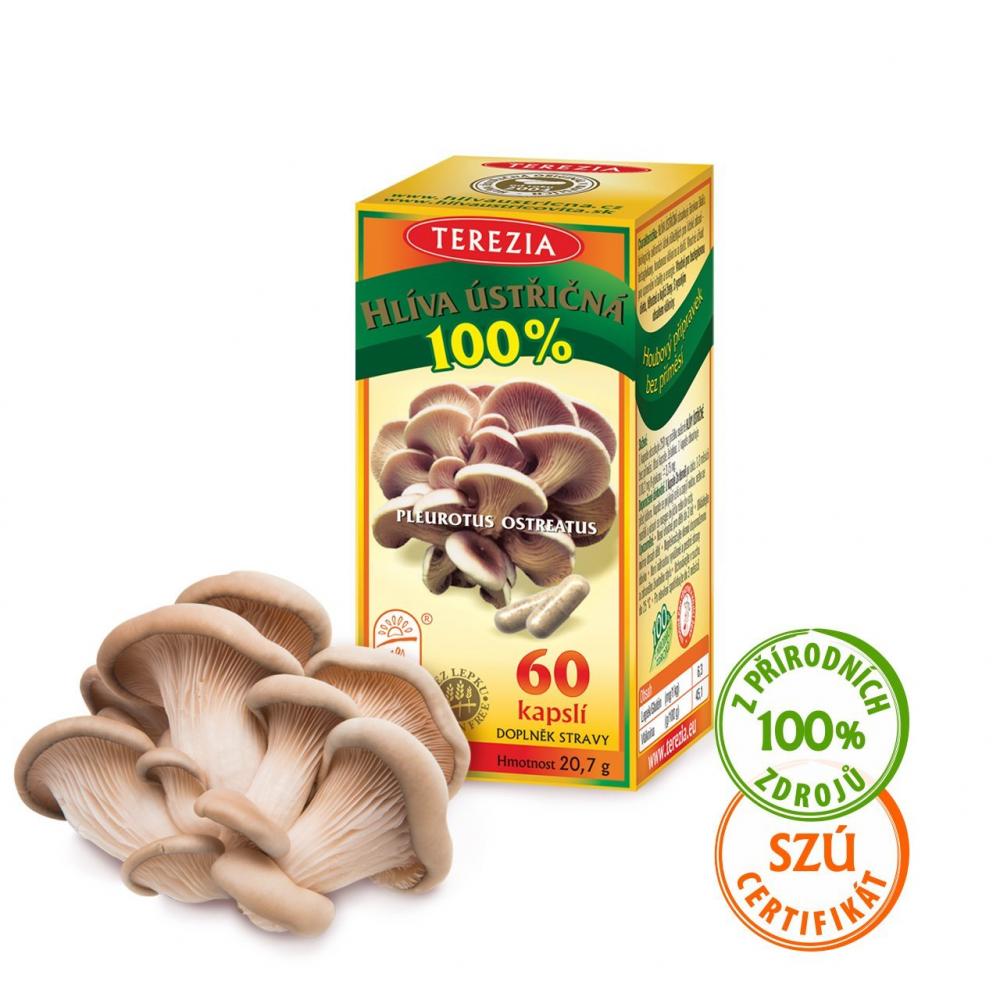 8267da68a 100% Hliva ustricovitá 60 kapsúl | Terezia.sk | Výživové doplnky z ...